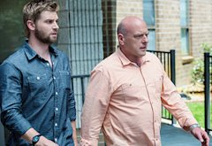 Mike Vogel, Dean Norris | Photo Credits: Michael Tackett/©2013