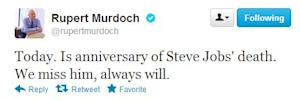 Fact Checking Rupert: His Tweet Misses Steve Jobs' Death Anniversary By 23 Days