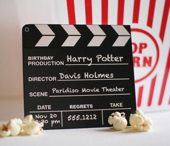 Movie Party Invite