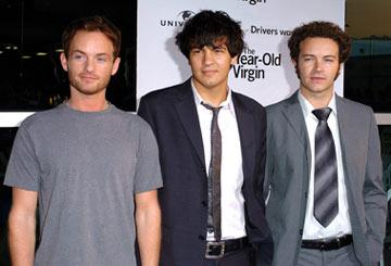 Premiere: Christopher Masterson, Jordan Masterson and Danny Masterson at the Hollywood premiere of Universal Pictures' The 40-Year-Old Virgin - 8/11/2005