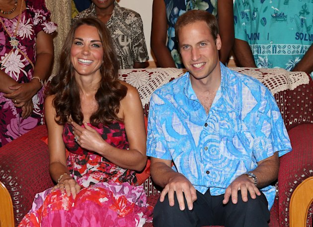 File photo dated 16/09/12 ofthe Duke and Duchess of Cambridge in traditional Island clothing during a visit to the home of Governor General Frank Kabui in Honiara, Solomon Islands, as part of their nine-day royal tour of the Far East and South Pacific in honour of the Queen's Diamond Jubilee.