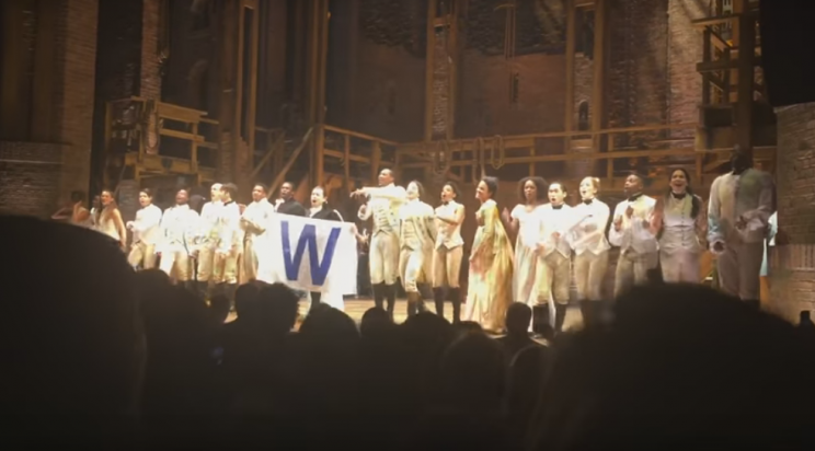 The Chicago cast of Hamilton sings