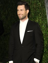 Adam Levine arrives at the 2012 Vanity Fair Oscar Party