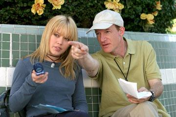 Hilary Duff and director Mark Rosman in Warner Brothers' A Cinderella Story