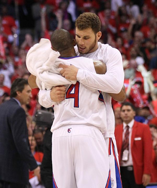 Blake Griffin #32  Of The Los Angeles Clippers Hugs Getty Images
