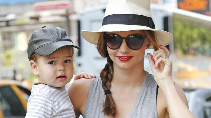 Miranda Kerr out and about with her son Flynn Bloom in New York City