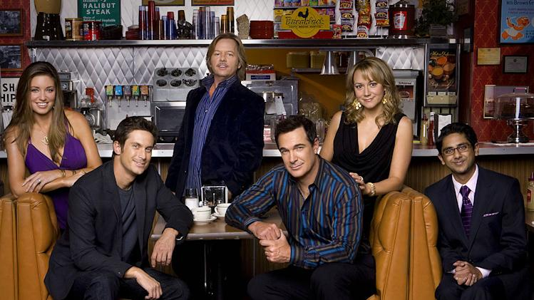 "The cast of ""Rules of Engagement."""