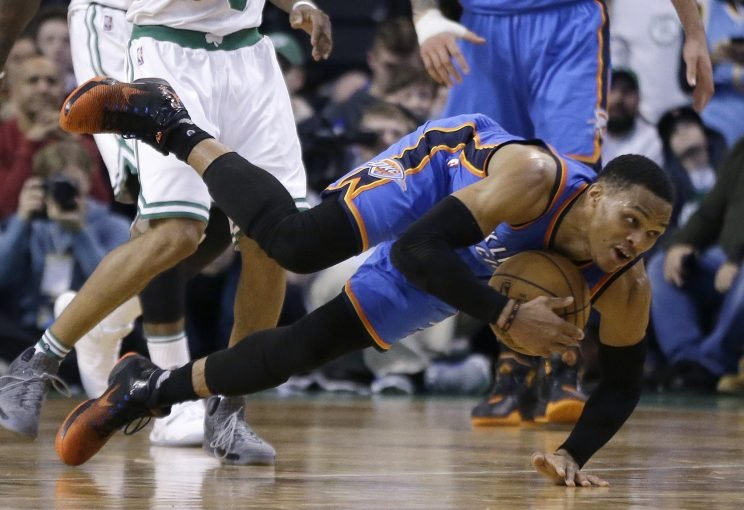 Russell Westbrook is putting up numbers we haven't seen in decades. (Associated Press)