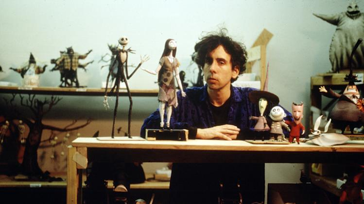 Tim Burton Tim Burton's The Nightmare Before Christmas Production Stills Walt Disney 1993