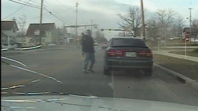 Traffic-stop shooting caught on dash cam