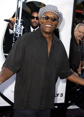Samuel L. Jackson at the LA premiere of Columbia's Men in Black II