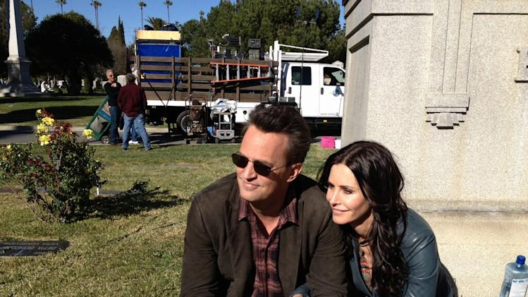 Matthew Perry and Courteney Cox