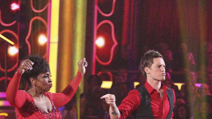"Gladys Knight and Tristan Macmanus perform on ""Dancing With the Stars."""