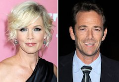 Jennie Garth, Luke Perry | Photo Credits: Jeffrey Mayer/WireImage.com; Michael Tran/FilmMagic.com