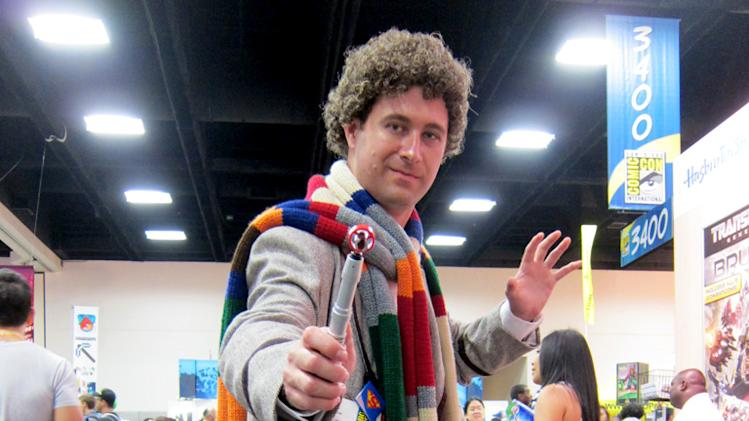 The fourth Doctor branishes his sonic screwdriver - San Diego Comic-Con 2012
