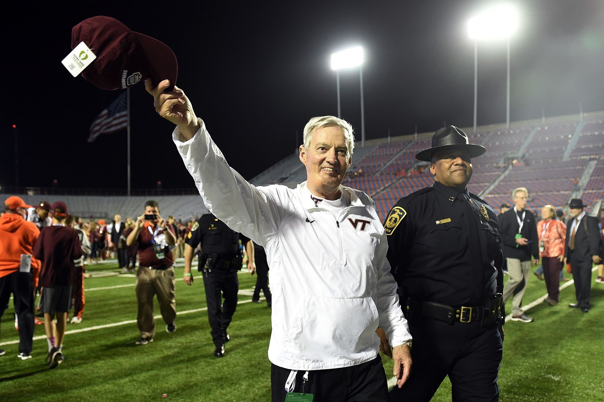 Frank Beamer's retired after the 2015 season. (Getty Images)