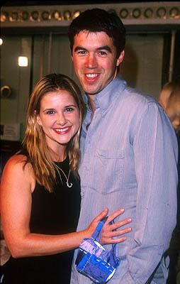 Premiere: Kellie Martin and her fella at the Mann Village Theater premiere of Warner Brothers' Three Kings - 9/27/1999