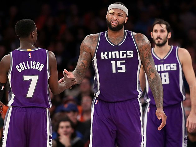 DeMarcus Cousins and teammates. (Getty Images)