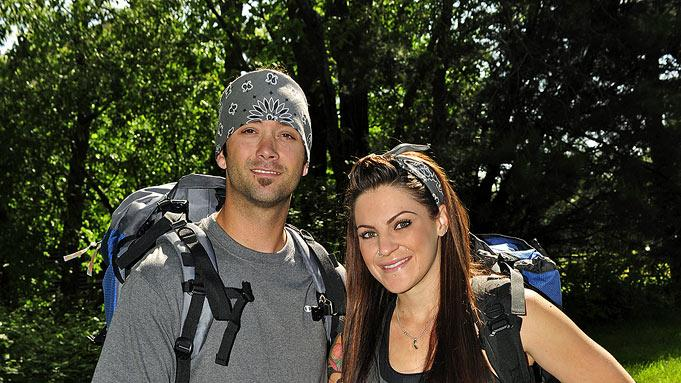 "Las Vegas dating couple Nick De Carlo and Vicki Casciola compete in ""The Amazing Race 17."""