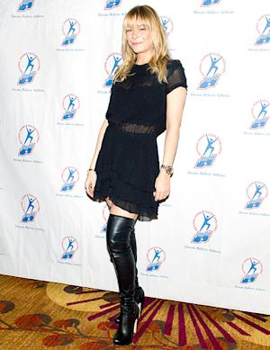 LeAnn Rimes Wears See-Through Dress, Thigh-High Boots, Rocks Bangs at Military Event in Washington, D.C