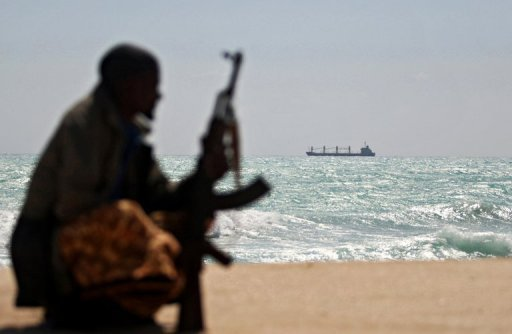 Greek cargo ship MV Filitsa pictured in 2010 at anchor where pirates were holding it off Somalia's Hobyo town. One of Somalia's most notorious pirate leaders who terrorised vast areas of the Indian Ocean, generating multi-million dollar ransoms from the ships he seized, has announced his retirement.