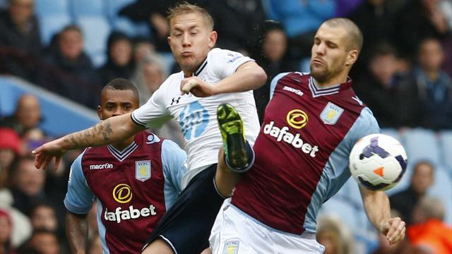Premier League - Vlaar lifted by Benteke, Weimann goals