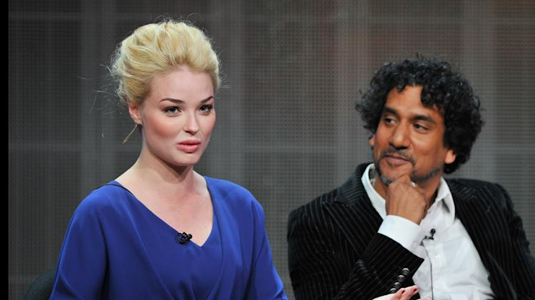 Actors Emma Rigby and Naveen Andrews attend the Disney/ABC Television Group's 2013 Summer TCA panel at the Beverly Hilton Hotel on Sunday, August 4, 2013 in Beverly Hills, Calif. (Photo by Vince Bucci/Invision/AP)