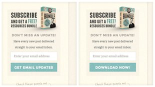 7 Stats to Help You Rapidly Increase Blog Email Subscribers image Different Words on Buttons Vary Blog Email Signups