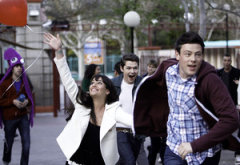 Lea Michele, Damian McGinty and Cory Monteith | Photo Credits: Jordin Althaus/Fox