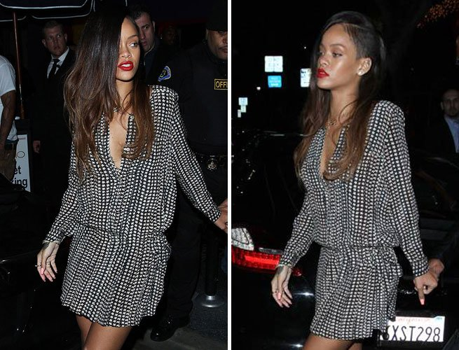 Rihanna New Hairstyle: Hair Extensions With Undercut And Dip Dye