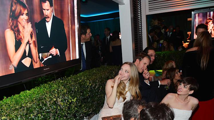 "NBC's ""70th Annual Golden Globe Awards"" - Party: Amanda Seyfried and Anne Hathaway"