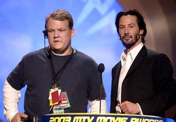Andy Richter and Keanu Reeves MTV Movie Awards - 5/31/2003