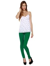 Moves Like Jagger Bright Green Leggings