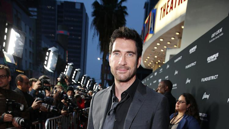 Dylan McDermott at FilmDistrict's Premiere of 'Olympus Has Fallen' hosted by Brioni and Grey Goose at the ArcLight Hollywood, on Monday, March, 18, 2013 in Los Angeles. (Photo by Eric Charbonneau/Invision for FilmDistrict/AP Images)