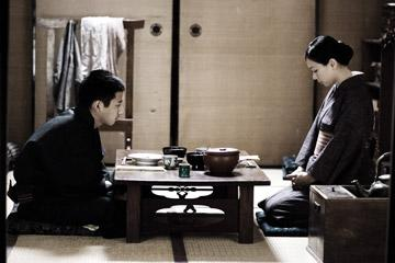 Kazunari Ninomiya as Saigo and Nae as Hanako in Warner Bros. Pictures' Letters From Iwo Jima