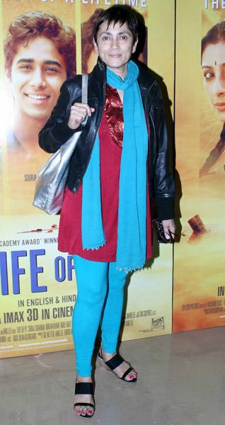 Spotted at 'Life of Pi' premiere