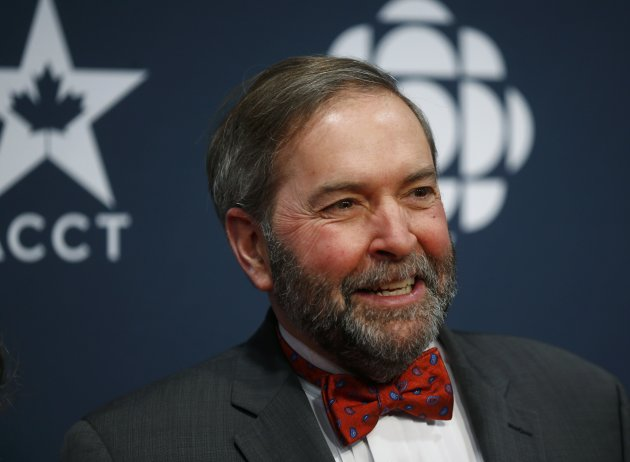 Thomas Mulcair arrives at the 2015 Canadian Screen Awards in Toronto, March 1.  REUTERS/Mark Blinch