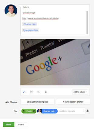 How To Create The Perfect Google Plus Post image googlepluspostwithhasttags