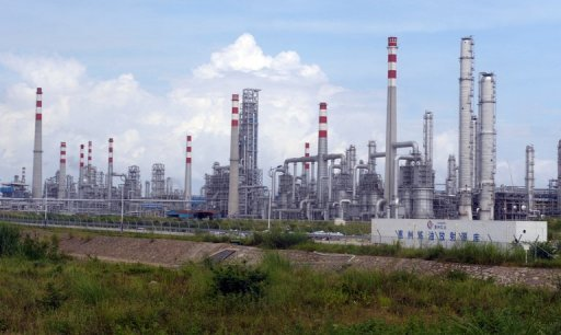 This file photo shows a general view of the Chinese energy giant CNOOC and Anglo-Dutch firm Shell petrochemical plant in Daya Bay, in southern China, pictured on July 28, 2009. Chinese firms have become more active in mergers and acquisitions since the global financial crisis that began in 2008, as economic distress has thrown up bargains around the world.