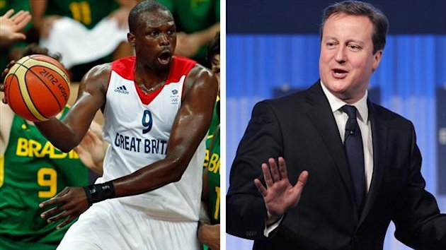 Luol Deng and David Cameron