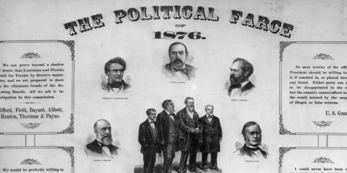 1876 presidential election poster rutherford hayes