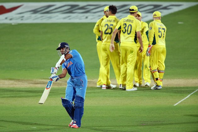 India lost the World Cup warm-up game in Adelaide on Sunday.