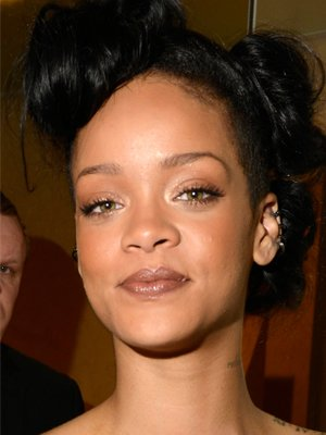 Rihanna's bronze look