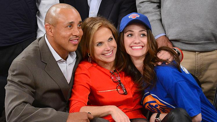 Celebrities Attend The Oklahoma City Thunder Vs New York Knicks Game