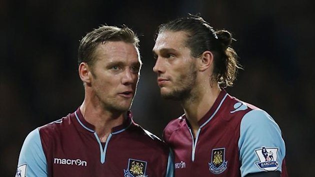 Kevin Nolan and Andy Carroll of West Ham