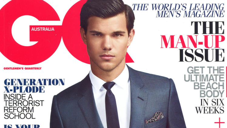 Taylor Lautner on the cover of GQ Australia