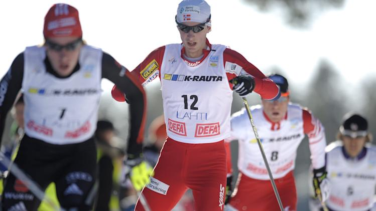 Winner Jan Schmid of Norway competes during the men's Nordic Combined Gundersen 10km World Cup race at the Lahti Ski Games in Lahti on March 3, 2012. AFP PHOTO / LEHTIKUVA / Martti Kainulainen *** FINLAND OUT *** (Photo credit should read MARTTI KAINULAINEN/AFP/Getty Images)