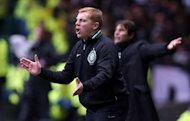 Celtic manager Neil Lennon shouts from the sideline during their Champions League match against Juventus on February 12, 2013. Celtic, who are 19 points clear at the top of the Scottish Premier League, are on course to wrap up the league title in record time