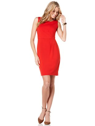 Rio red solid ponte dres