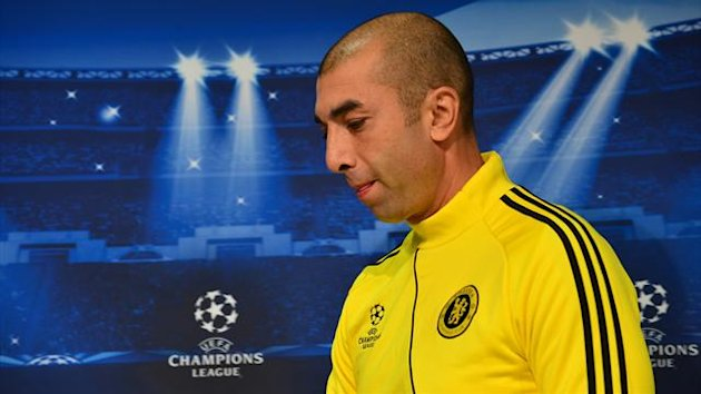 Chelsea coach Roberto Di Matteo gives a press conference on November 19, 2012 at the Juventus Stadium in Turin (AFP)